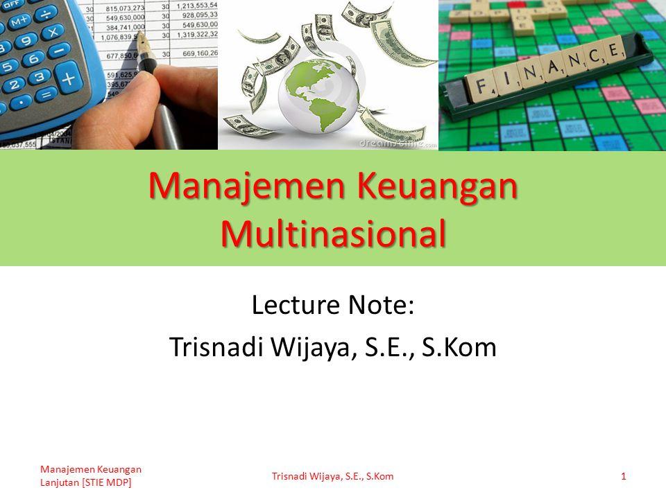 Manajemen Keuangan Multinasional