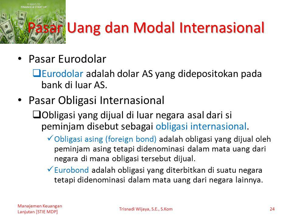 Pasar Uang dan Modal Internasional