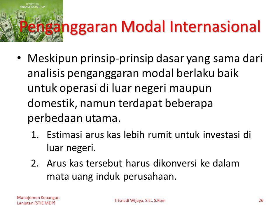 Penganggaran Modal Internasional
