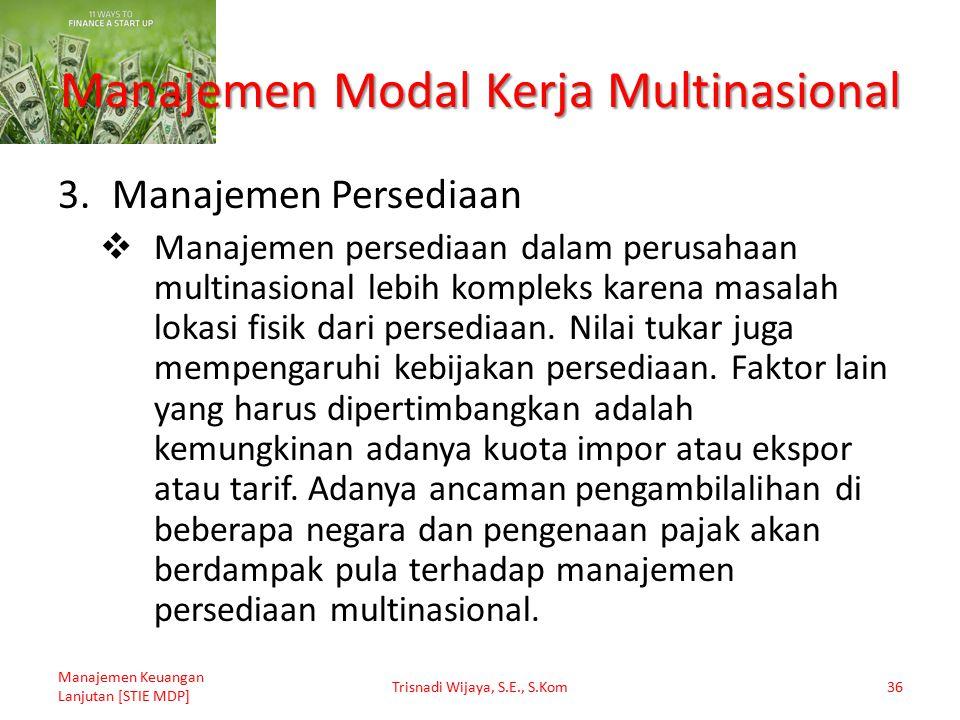 Manajemen Modal Kerja Multinasional