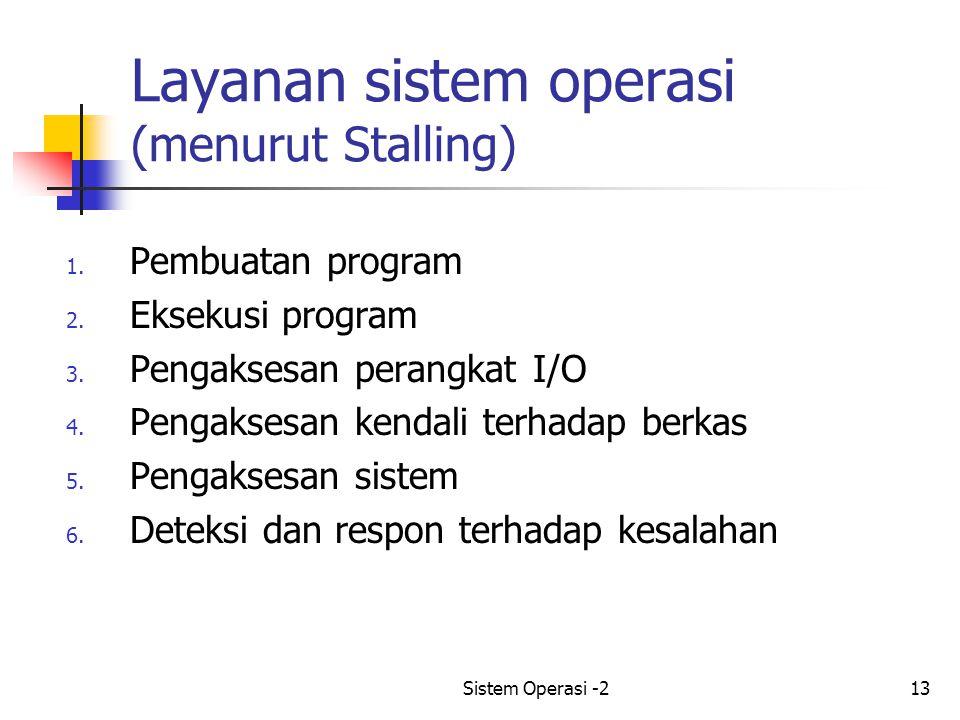 Layanan sistem operasi (menurut Stalling)