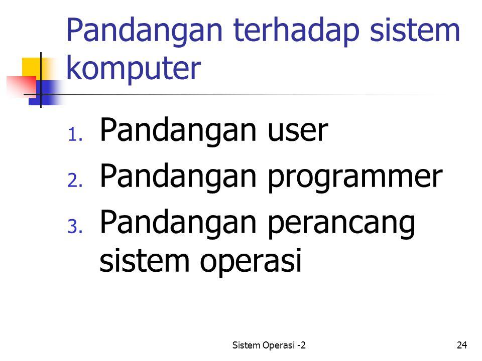 Pandangan terhadap sistem komputer