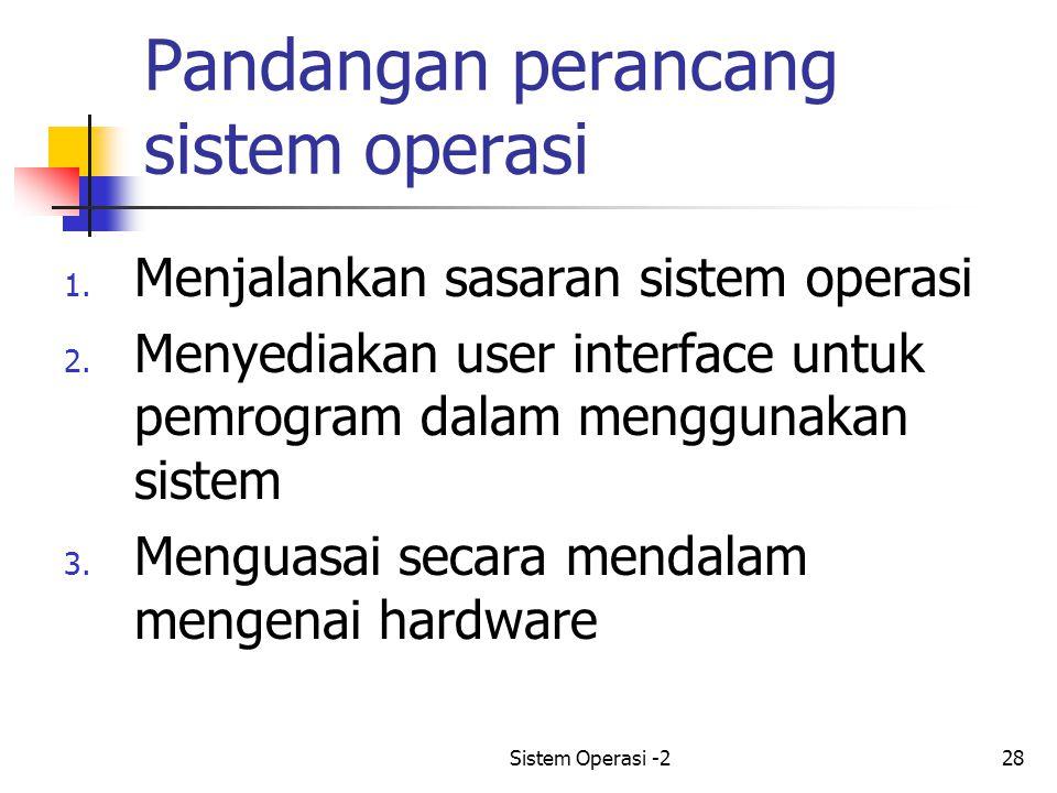 Pandangan perancang sistem operasi