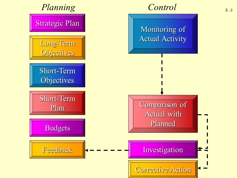 Planning Control Strategic Plan Monitoring of Actual Activity