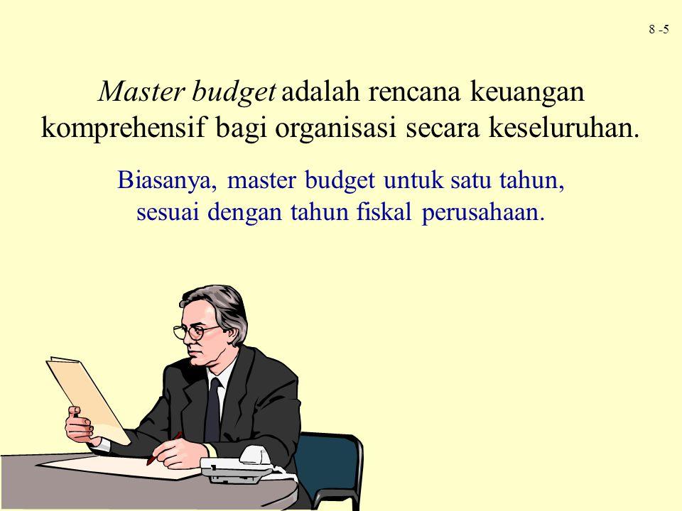Master budget adalah rencana keuangan komprehensif bagi organisasi secara keseluruhan.