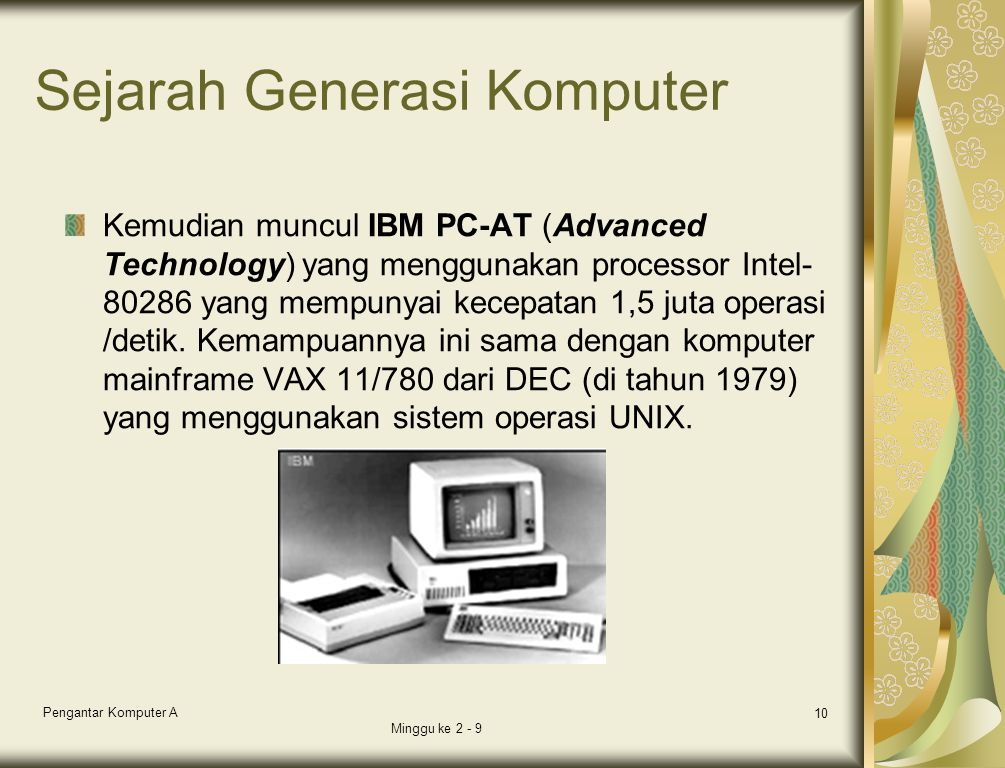 Sejarah Generasi Komputer