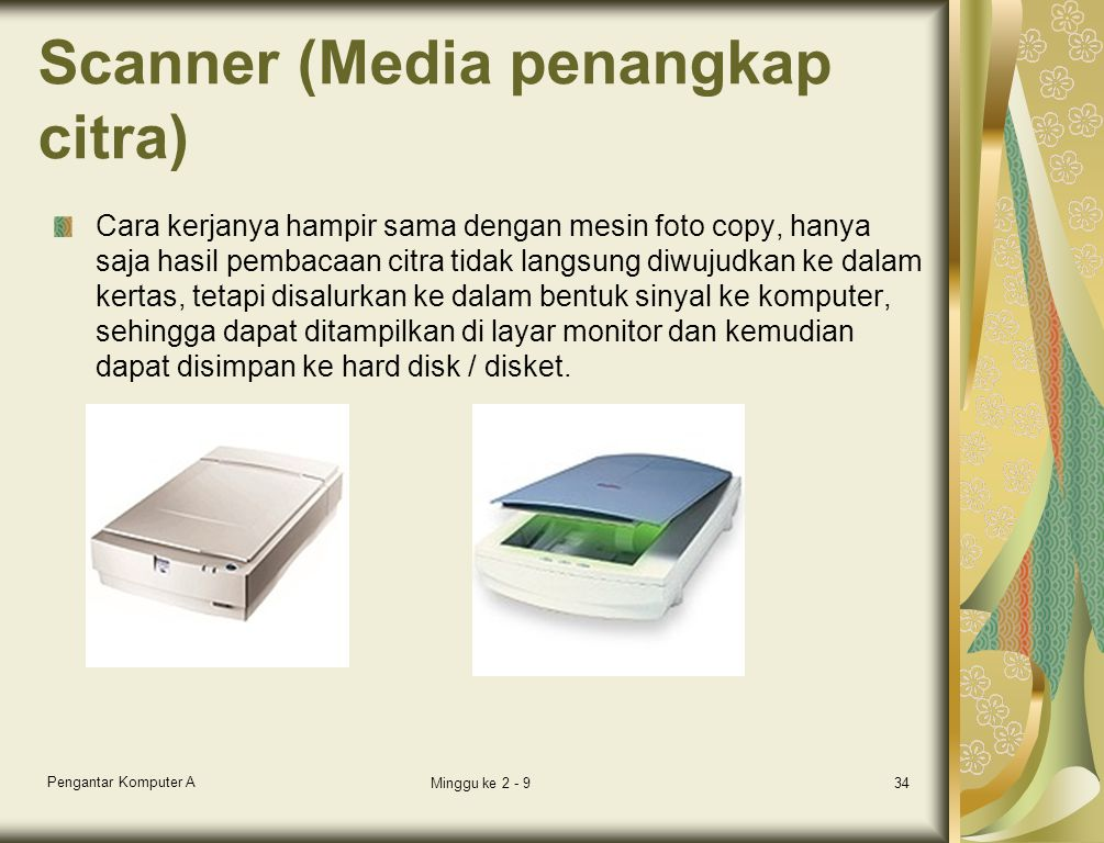 Scanner (Media penangkap citra)