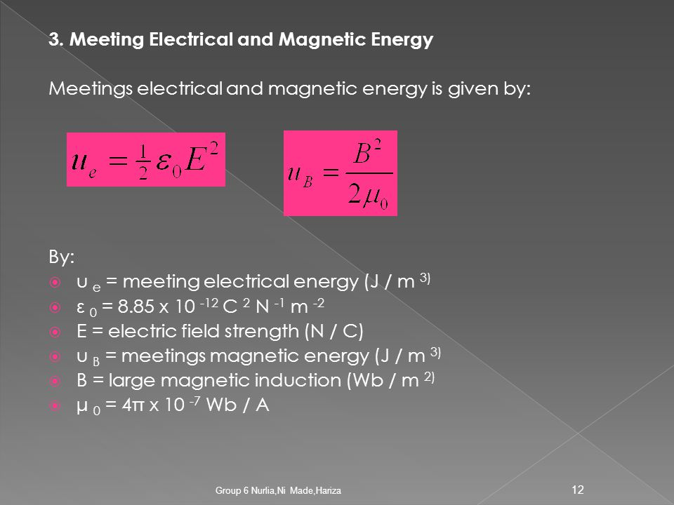 3. Meeting Electrical and Magnetic Energy