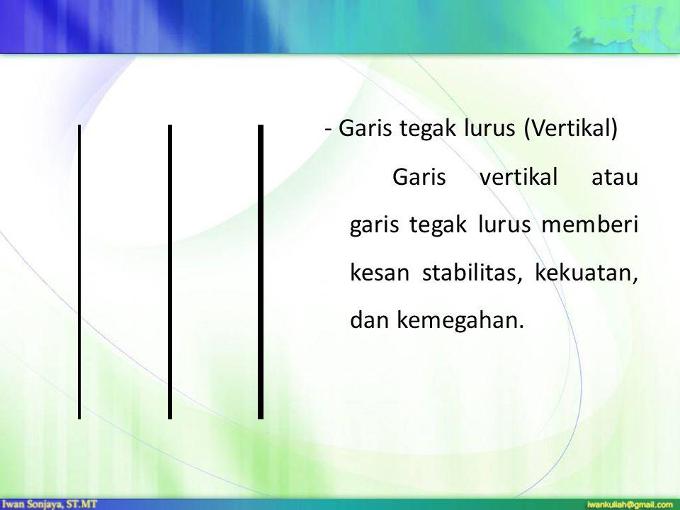- Garis tegak lurus (Vertikal)