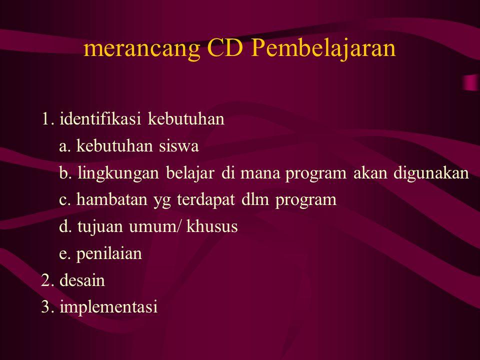 merancang CD Pembelajaran