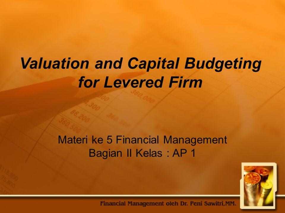 Materi ke 5 Financial Management Bagian II Kelas : AP 1