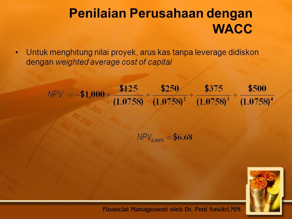 Penilaian Perusahaan dengan WACC