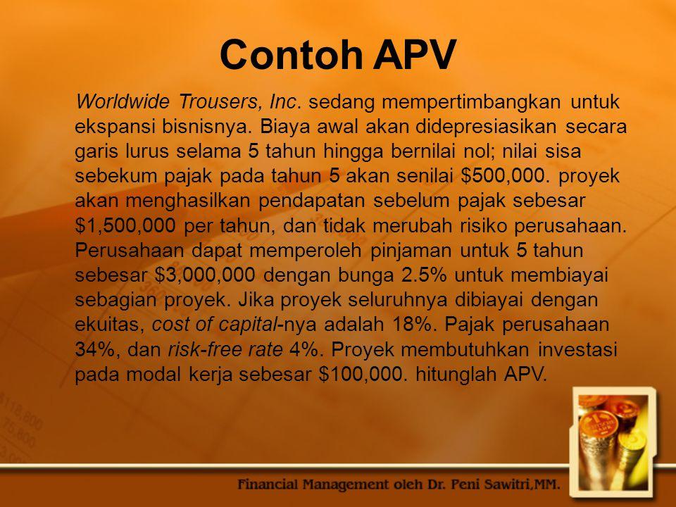 Contoh APV