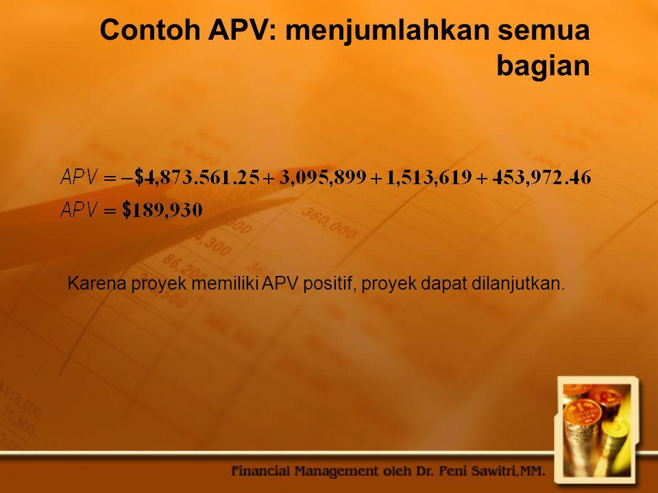 Contoh APV: menjumlahkan semua bagian