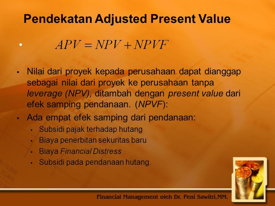 Pendekatan Adjusted Present Value