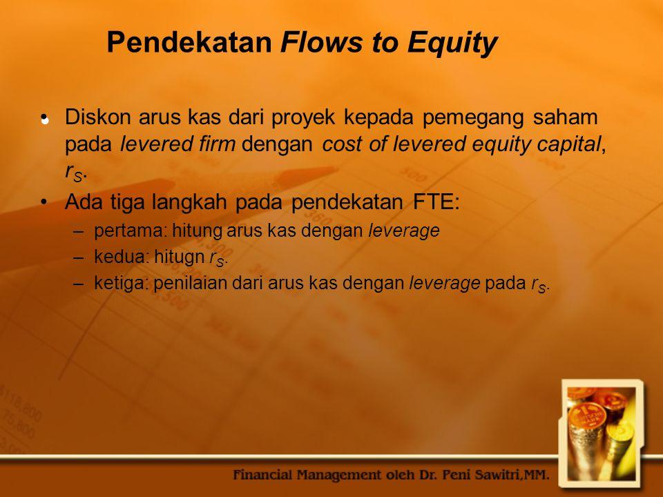 Pendekatan Flows to Equity