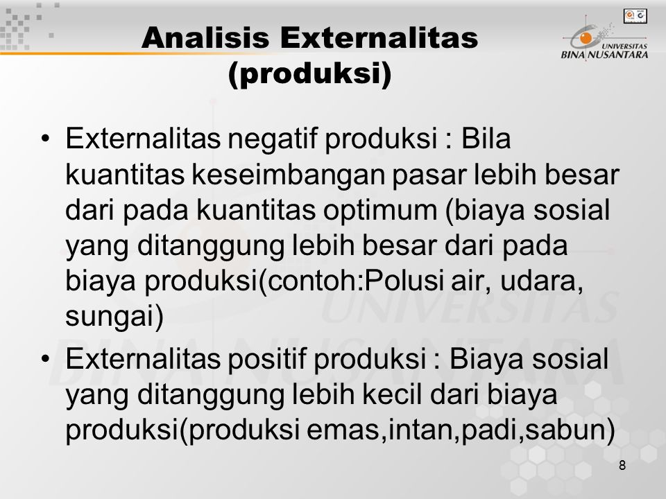 Analisis Externalitas (produksi)