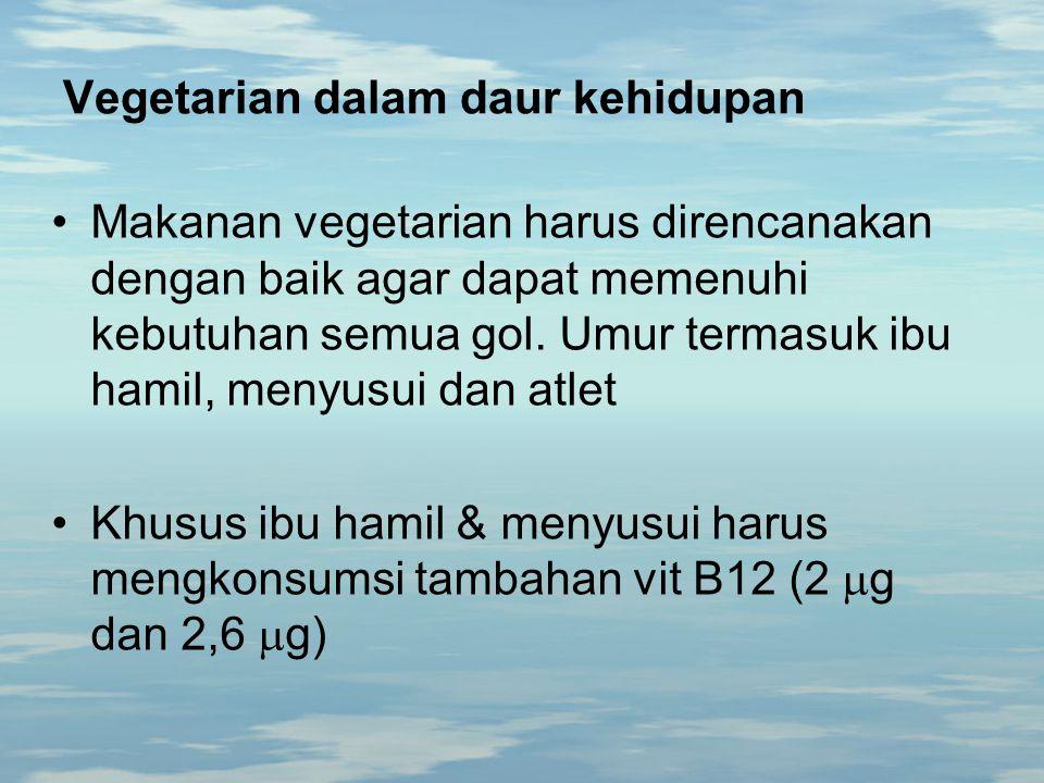 Vegetarian dalam daur kehidupan