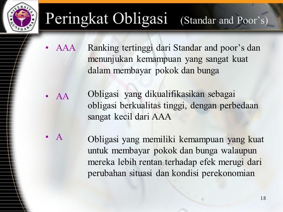 Peringkat Obligasi (Standar and Poor's)
