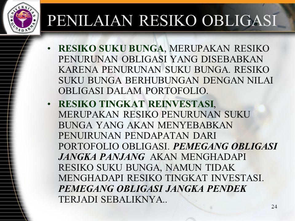 PENILAIAN RESIKO OBLIGASI