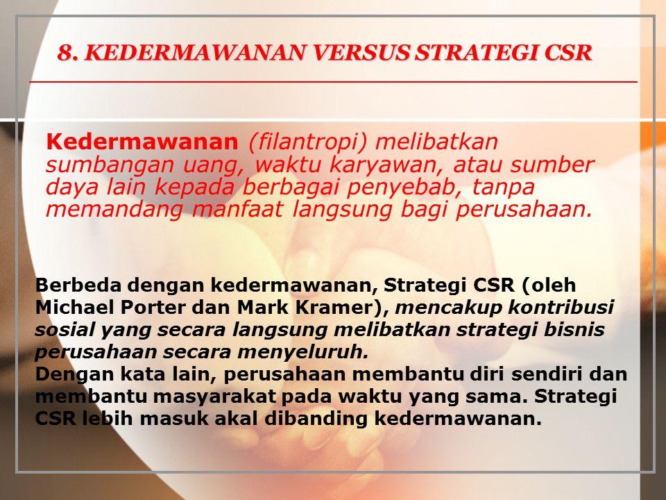 8. KEDERMAWANAN VERSUS STRATEGI CSR