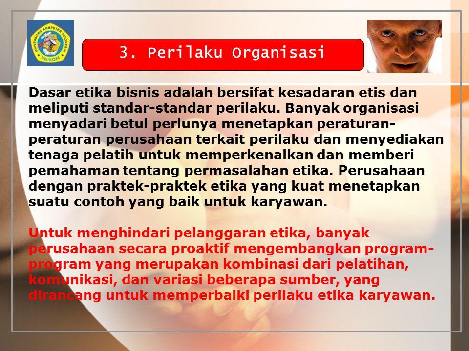 3. Perilaku Organisasi