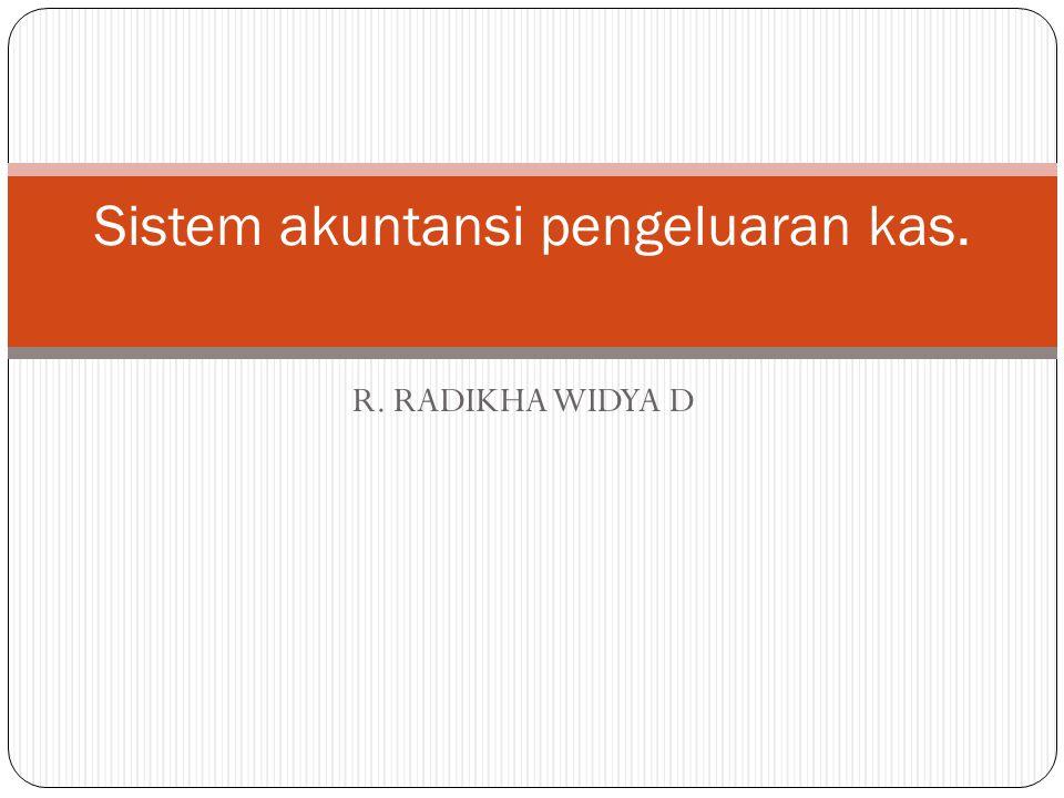 Sistem akuntansi pengeluaran kas.