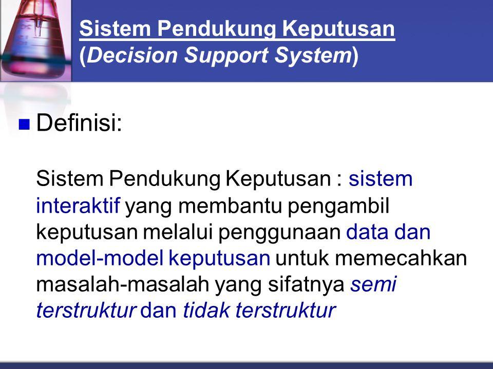 Sistem Pendukung Keputusan (Decision Support System)