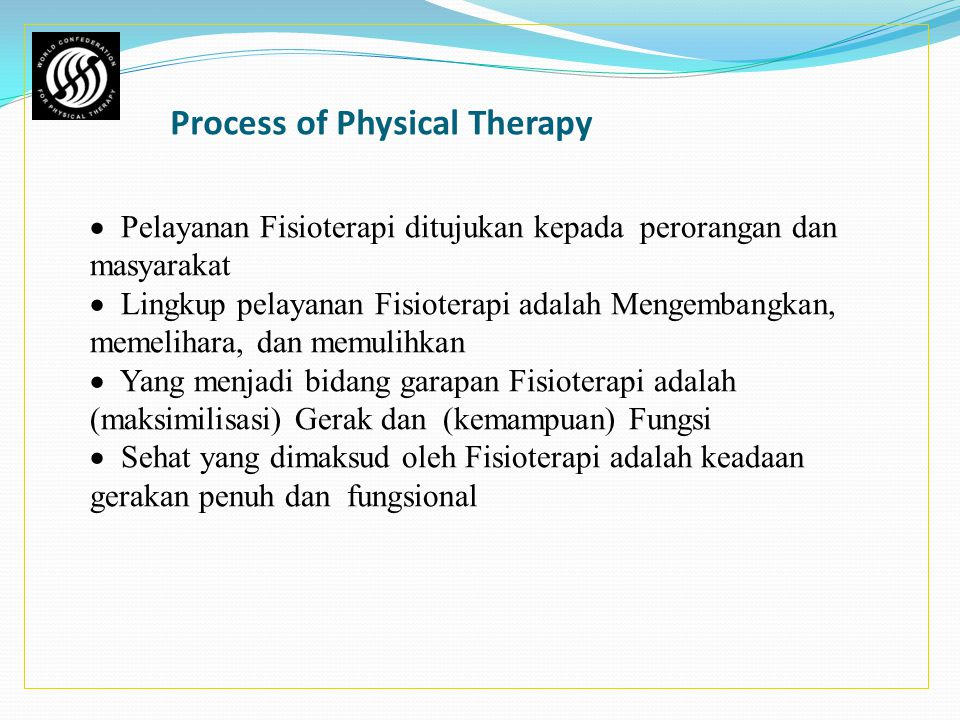 Process of Physical Therapy