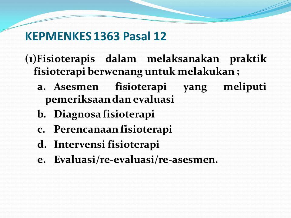 KEPMENKES 1363 Pasal 12