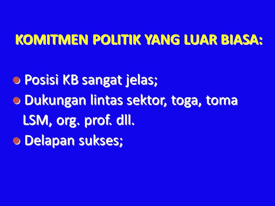 KOMITMEN POLITIK YANG LUAR BIASA: