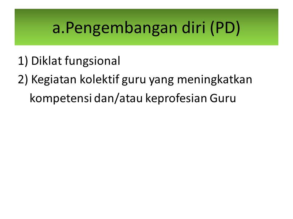 a.Pengembangan diri (PD)