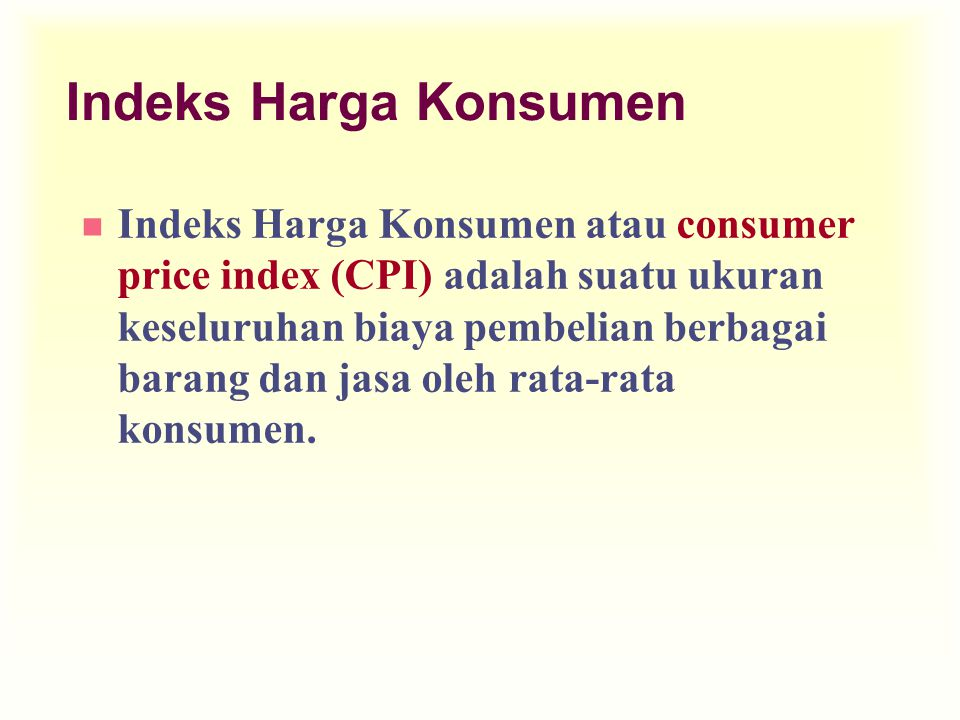 Indeks Harga Konsumen
