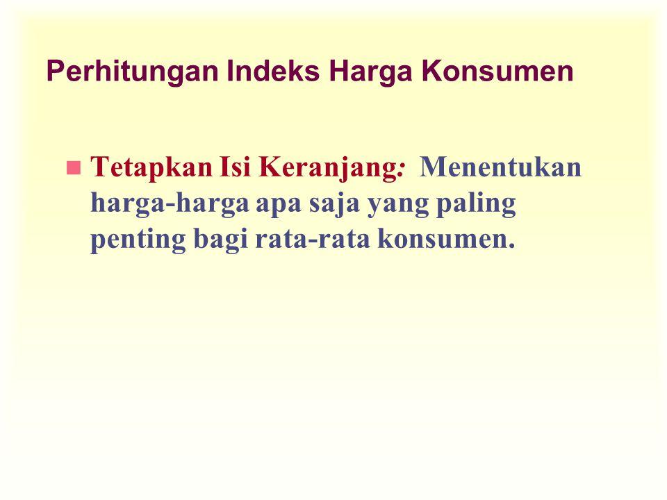 Perhitungan Indeks Harga Konsumen