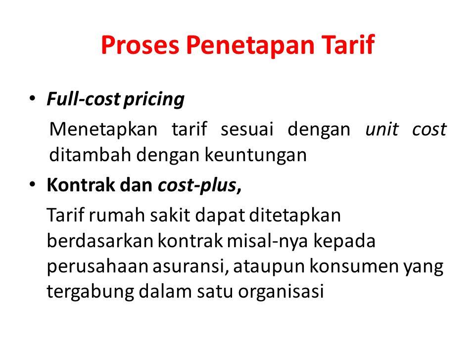 Proses Penetapan Tarif