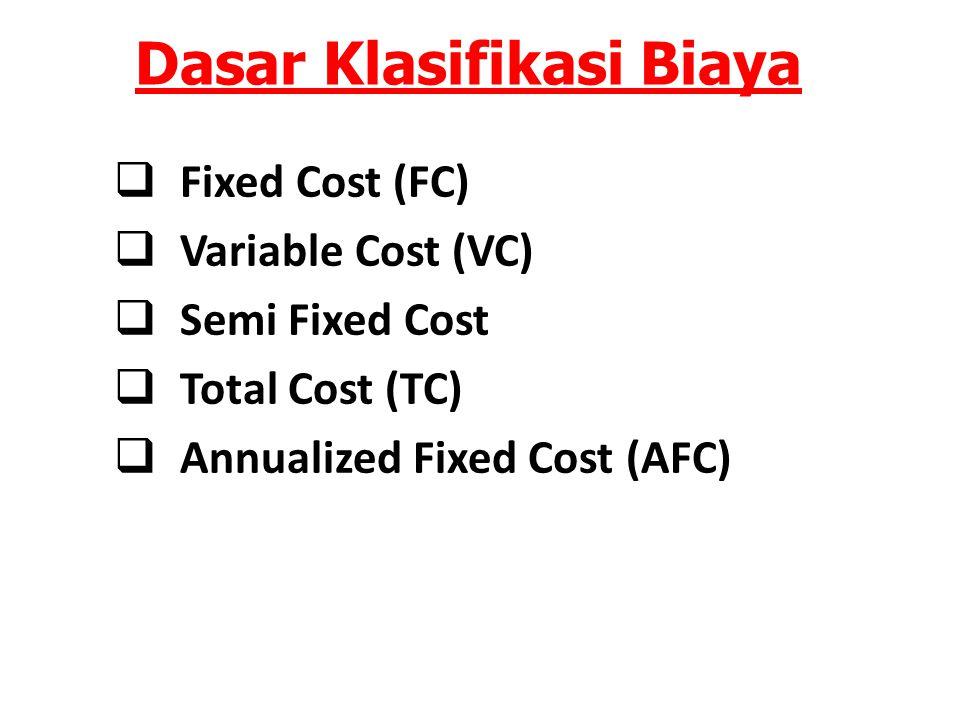 Dasar Klasifikasi Biaya