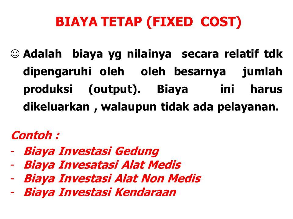 BIAYA TETAP (FIXED COST)