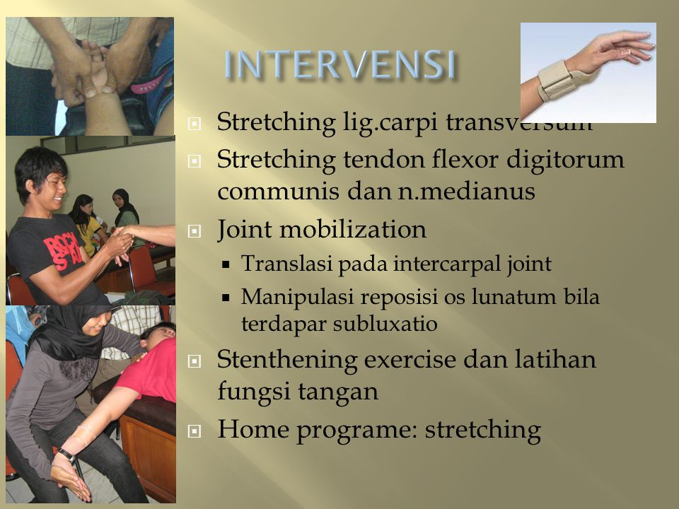 INTERVENSI Stretching lig.carpi transversum