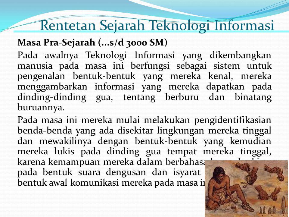 Rentetan Sejarah Teknologi Informasi
