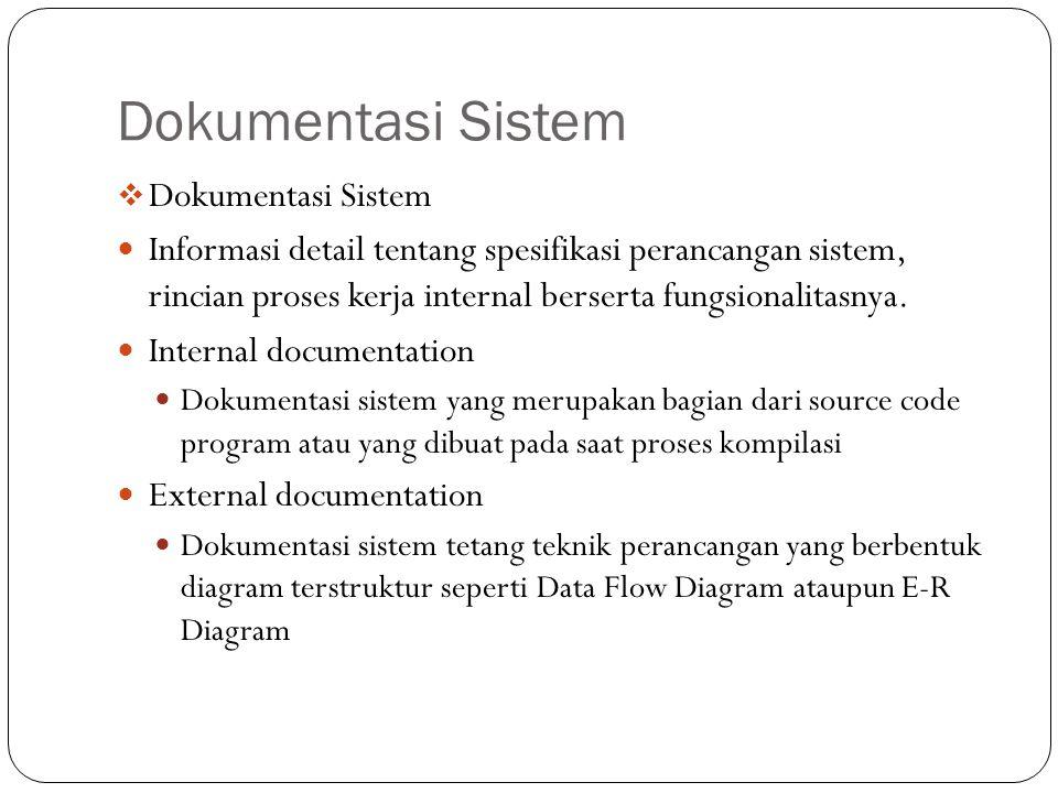 Dokumentasi Sistem Dokumentasi Sistem
