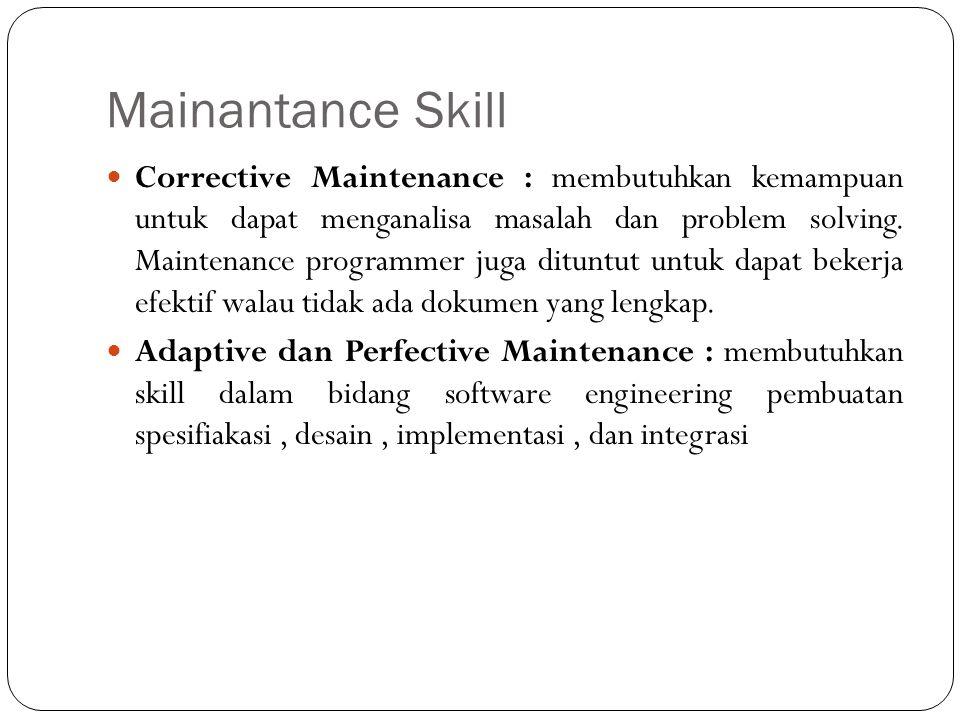 Mainantance Skill