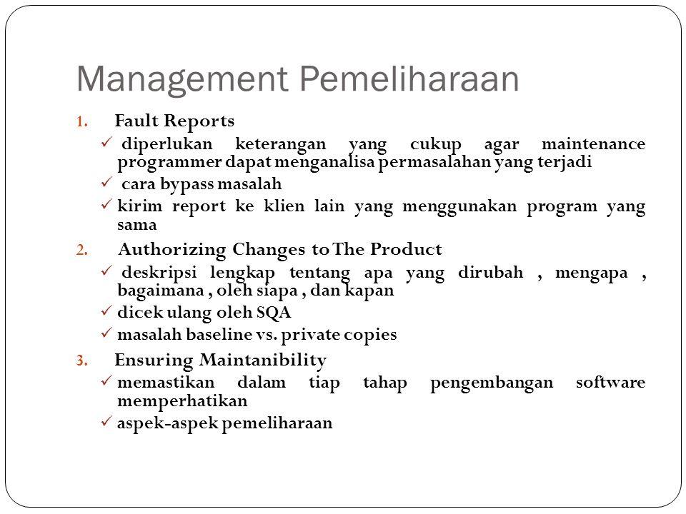 Management Pemeliharaan