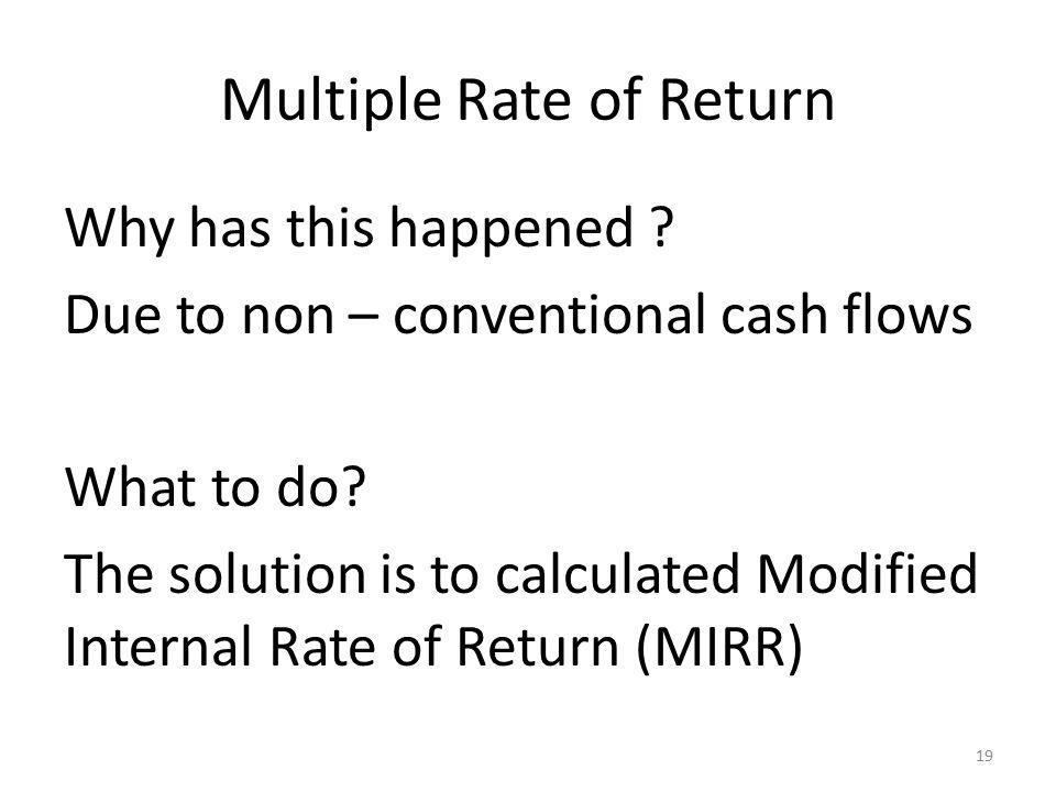 Multiple Rate of Return