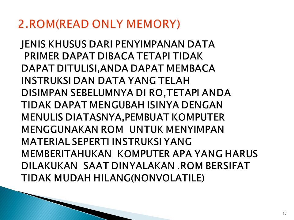 2.ROM(READ ONLY MEMORY)