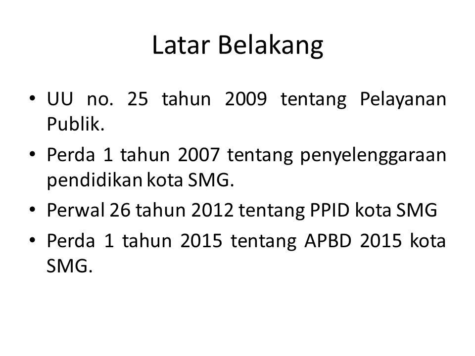 Latar Belakang UU no. 25 tahun 2009 tentang Pelayanan Publik.