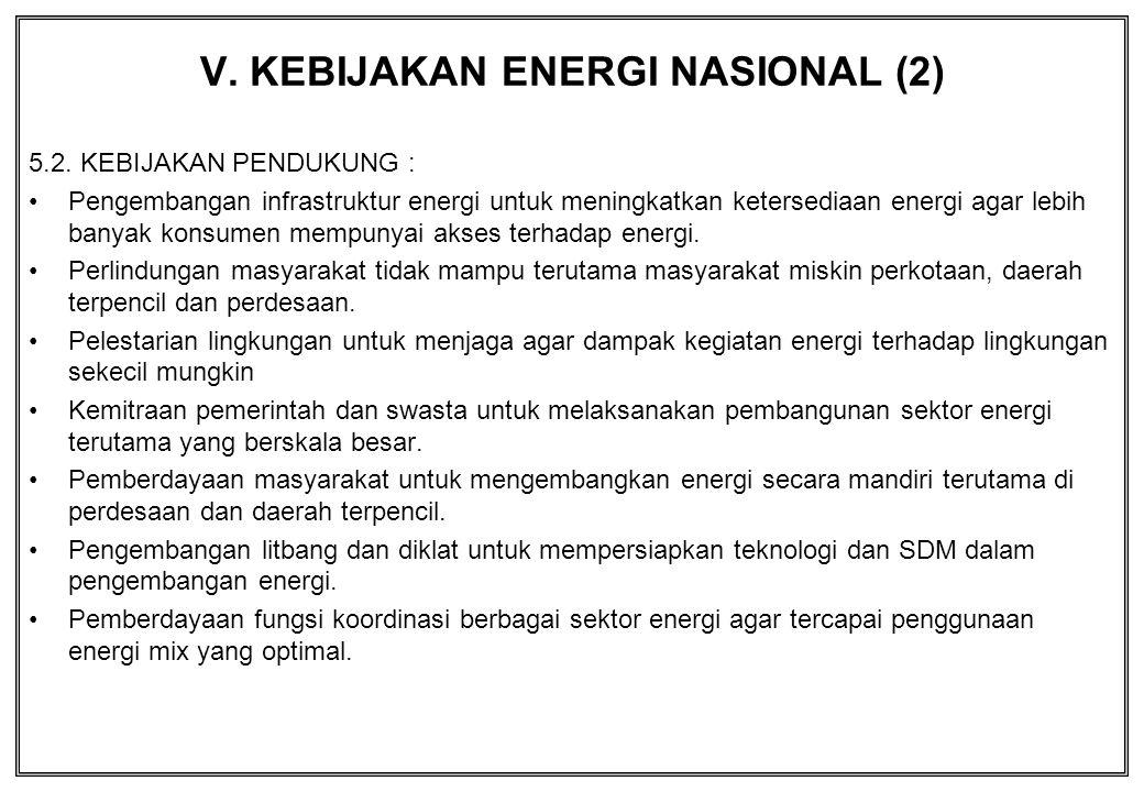 V. KEBIJAKAN ENERGI NASIONAL (2)
