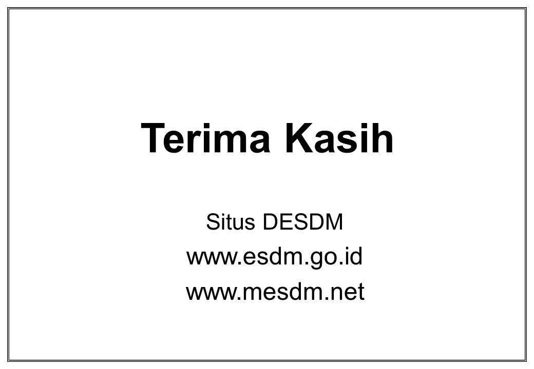 Terima Kasih Situs DESDM www.esdm.go.id www.mesdm.net