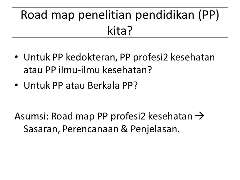 Road map penelitian pendidikan (PP) kita