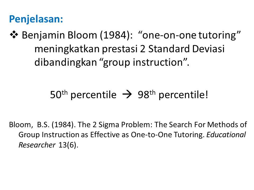 50th percentile  98th percentile!