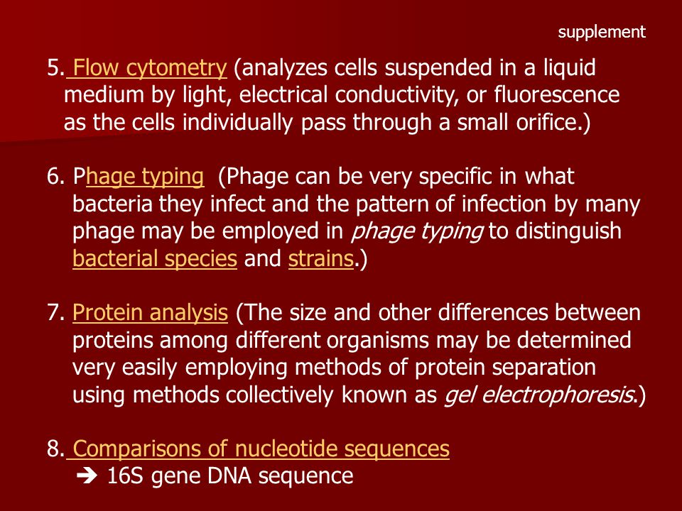 Comparisons of nucleotide sequences  16S gene DNA sequence